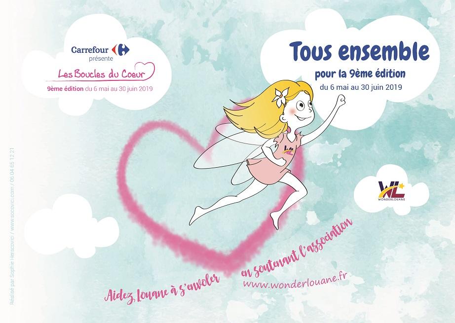 Affiche pour les boucles du cœur - Carrefour - 2019
