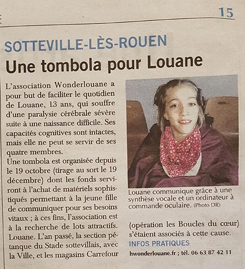 Article du Paris Normandie - Octobre 2020